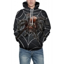 Unique 3D Spider Pattern Long Sleeve Unisex Leisure Sports Hoodie