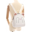 Cute Cartoon Cat Printed Outdoor Waterproof Backpack