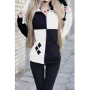 New Arrival Fashionable Colorblock Long Sleeve Slim Fit Zip Up Hoodie