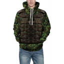 Unique 3D Armour Vest Camo Pattern Long Sleeve Unisex Green Hoodie