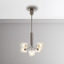 Multi Light Clear Glass Chandelier 5/7/9/11/13 Light 25W-65W LED Warm White High Bright Gem Hanging Chandelier in Silver Finish for Living Room