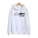 Letter GREY'S ANATOMY Printed Long Sleeve Fitted Hoodie