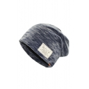 ROCK Letter Logo Patched Double Layered Beanie