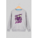 CHANGE IS GOOD Game Printed Round Neck Long Sleeve Fitted Sweatshirt