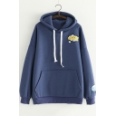 OOOPS Letter Embroidered Long Sleeve Loose Leisure Hoodie