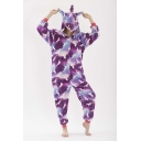Purple Pegasus Cosplay Unisex Fleece Onesie Costume Sleepwear Pajamas for Adult