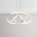 Nordic Designers Lighting White Twisted Pendant Lighting Aluminum Chandelier for Kitchen Dining Restaurant ( 22