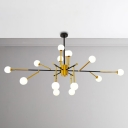 Post Modern Gold Mini Chandelier 70W 51