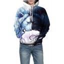 Unique 3D Lion Pattern Winter's Fashion Unisex Hoodie