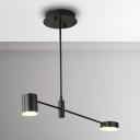 Best Lighting for Living Room 2/4/6/8 Light Metal LED Radar Chandelier in Acrylic Shade 10/20/30/40W LED Neutral Light Round Chandelier in Black