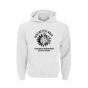 Men's Simple Letter WINCHESTERBROS Printed Long Sleeve Oversize Casual Hoodie
