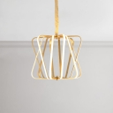 3000K Bright LED Warm Light Black/Gold Geometric Pendant Lighting 10