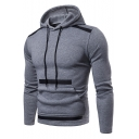 Men's New Arrival Fashion Colorblock Patchwork Long Sleeve Slim Hoodie