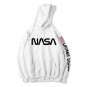 Letter NASA Printed Long Sleeve Hip Hop Style Hoodie for Men