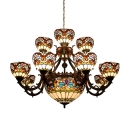 2/3 Tier Baroque Style Large Size Center Bowl Chandelier for Hotel Lobby