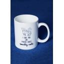 Fashion Letter I LOVE YOU LIKE PHOEBE LOVES Cat Printed White Ceramic Mug Cup