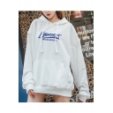 New Trendy Letter Pattern Long Sleeve Casual Oversized Hoodie