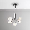 Elegant and Luxury LED Accent Light 5/7/9/11/13 Light 25W-65W Chrome Multi Chandelier Modern Living Room Clear Gem LED Chandelier Lighting