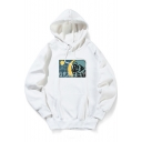 Letter GRAVITY Printed Long Sleeve Regular Fitted Hoodie for Juniors