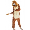 Unisex Fleece Carnival Lion Cosplay Onesie Costume Pajamas for Adult
