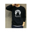 Hot Fashion Cartoon Character Printed Long Sleeve Crewneck Sweatshirt
