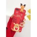 Cute Full Coverage Case Snowflake Cartoon Deer Printed iPhone Case