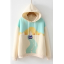 Casual Leisure Cartoon Pattern Long Sleeve Hoodie