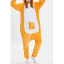 Yellow Kangaroo Cosplay Unisex Fleece Onesie Costume Carnival Pajamas
