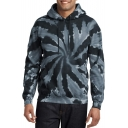 3D Whirlpool Painting Print Long Sleeve Regular Fitted Hoodie