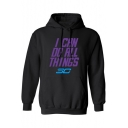 Fashion Letter I CAN DO ALL THINGS SO Print Long Sleeve Sports Casual Hoodie