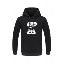 Lovely Cartoon Cat Pattern Long Sleeve Regular Fitted Hoodie