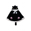 New Trendy Fashion Cartoon Cosplay Cat Claw Printed Hooded Cape Coat