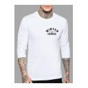 Letter WINTER IS COMING Chest HOUSE STARK Back Long Sleeve Crewneck Fitted T-Shirt