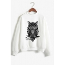 New Stylish Pattern Mock Neck Long Sleeve Pullover Winter's Casual Sweatshirt