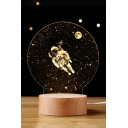 Stylish Dandelion Shaped Astronaut Inside Remote Control Bedlamp Night Lamp for Gift