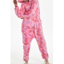Trendy Pink Pegasus Cosplay Unisex Fleece Costume Onesie Sleepwear Pajamas