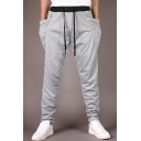 Men's Casual Drawstring Waist Loose Fitted Jogger Pants with Pockets