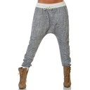 Autumn's New Fashion Drawstring Waist Dropped Crotch Tapered Pants