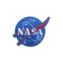 Unique Letter NASA Embroidered Blue Velcro Tape Badge