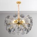Smoke Glass LED Chandelier 36W 23.5