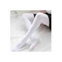 Girls Cosplay Pink Cherry Cat Claw Printed White Stockings 70cm