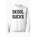 Hot Fashion Mock Neck Long Sleeve Letter Printed Unisex Sweatshirt