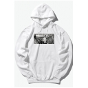 Chic Hip Hop Style Cartoon Character Printed Cotton Unisex Loose Leisure Hoodie