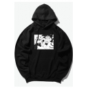 Lovely Fashion Cartoon Character Pattern Long Sleeve Loose Cotton Hoodie