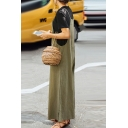 Casual Loose Fit Wide Legs Basic Solid Jumpsuits for Women