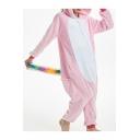 Fashion Fleece Color Block Pegasus Cosplay Onesie Unisex Pajamas for Adult