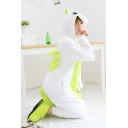 Colorblock Green Unicorn Cosplay Long Sleeve Hooded Onesie Costume Pajamas