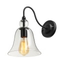 Single Light LED Mini Sconce Wall Light with Clear Glass Shade