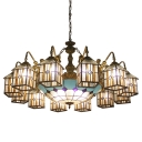 Clear House Designed Lodge Style Chandelier with Mermaid Arms and Mediterranean Center Bowl