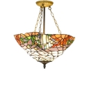 Nautical Style Tropical Fish Bowl Shade Tiffany Pendant Light for Living Room 17.72